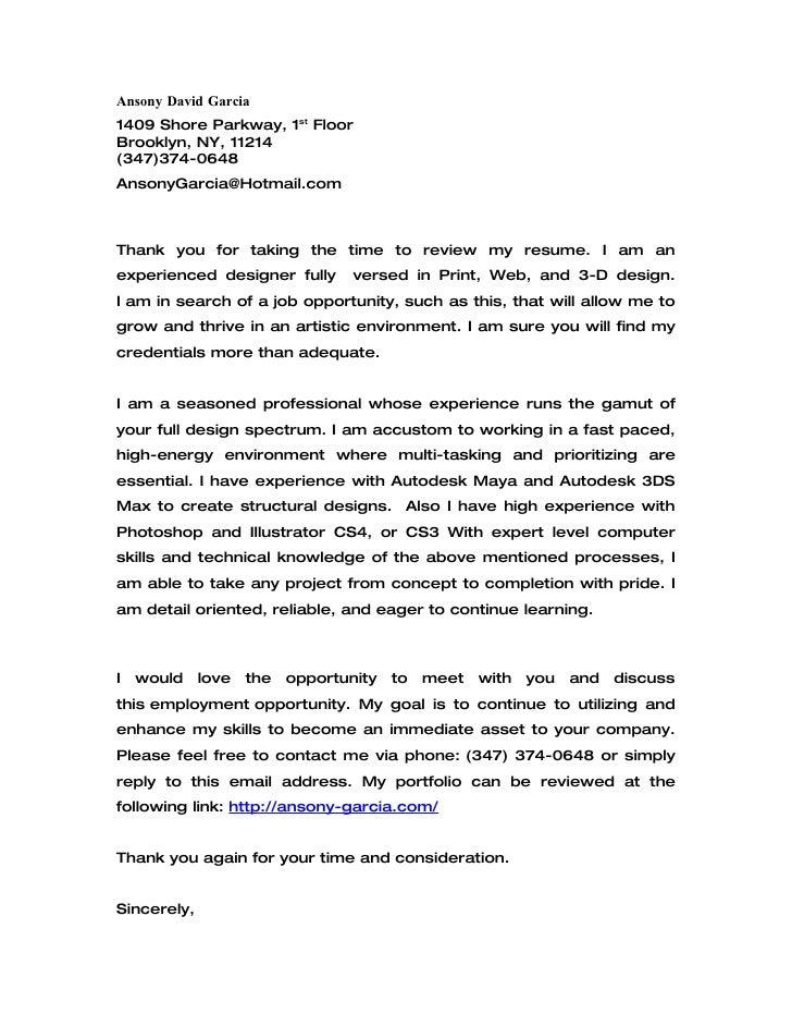 cover letter for residence life position