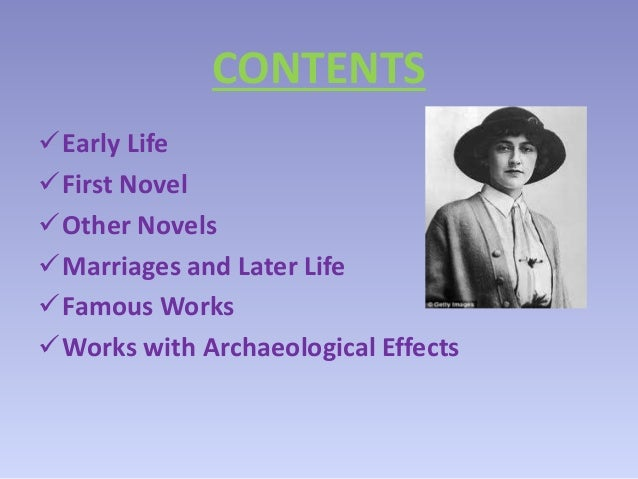 the life and works of agatha christie Read agatha christie 's biography, works and quotes online for free readcentralcom offers the most comprehensive collection of books and writings by agatha christie.