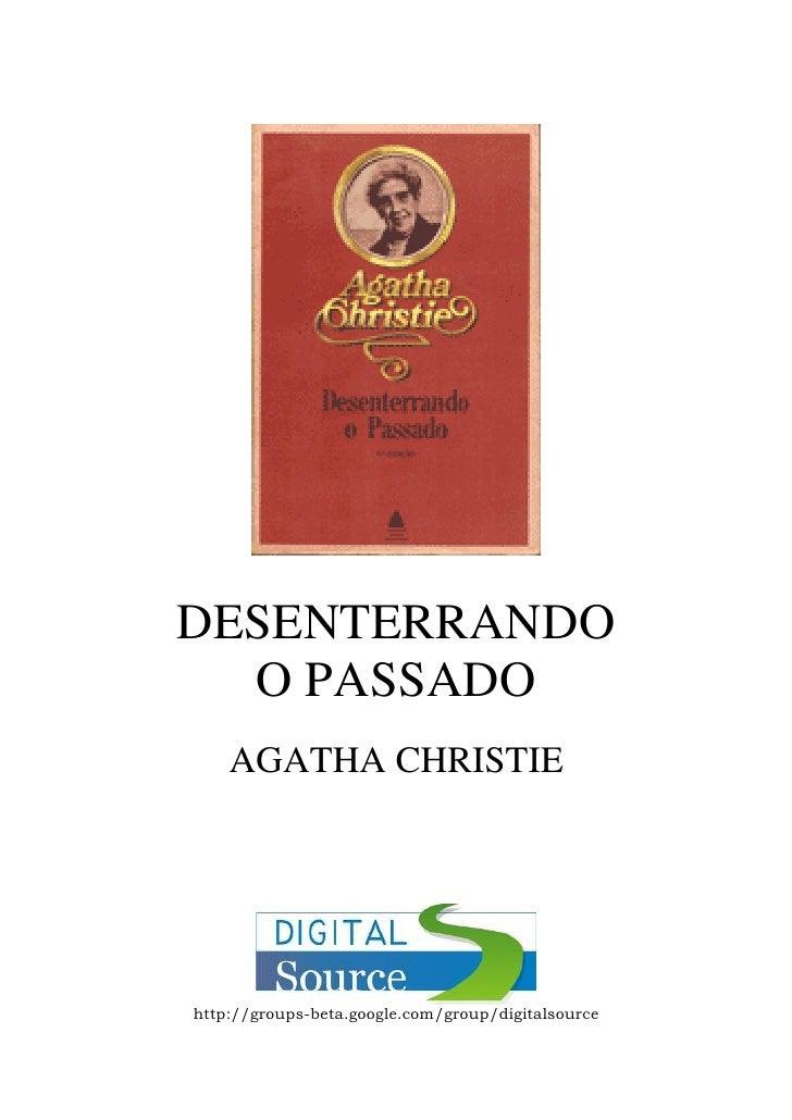 Agatha christie   desenterrando o passado