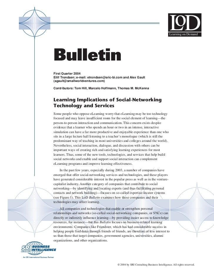 SRI Report: Social Media for Enterprise Learning