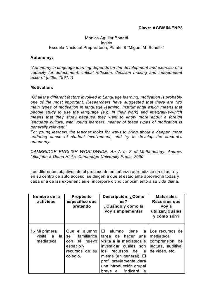 Clave: AGBMIN-ENP8                              Mónica Aguilar Bonetti                                    Inglés          ...