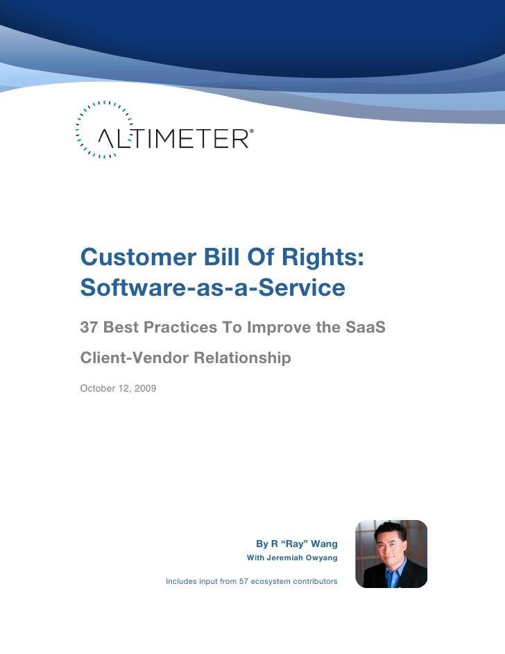 Customer Bill Of Rights:    ...