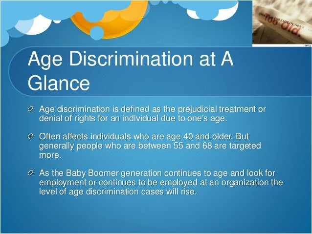 age discrimination in employment research paper