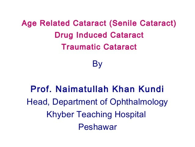 Age related cataract