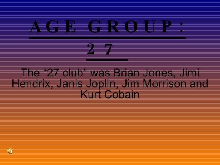 Age Group 97 2003 You Tube