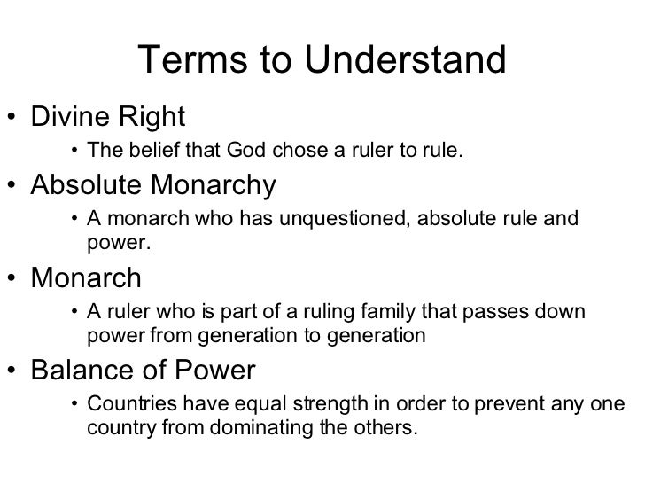 age of absolutism the age of absolutism state building & the search for order in the 17th century what is absolutismabsolutism or absolute monarchy was a system in which the sovereign power or ultimate authority in the state rested in the hands of.