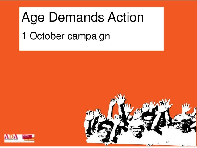 Age Demands Action1 October campaign