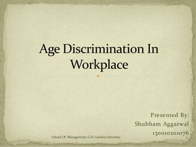 Essays On Age Discrimination