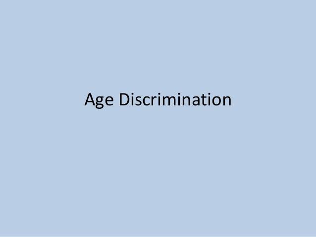 Age Discrimination