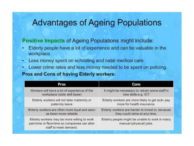 essays on ageing population Essays - largest database of quality sample essays and research papers on ageing population.