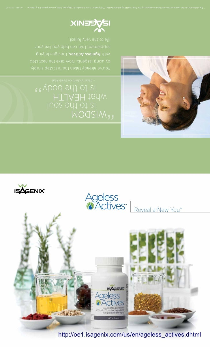 Reveal a New You™     http://oe1.isagenix.com/us/en/ageless_actives.dhtml