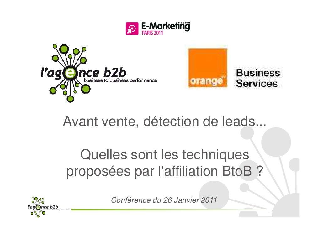 Conférence Agenceb2b-orange business Services- FEM2011