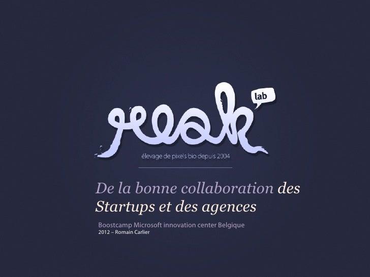 Relations entre startups et agences web