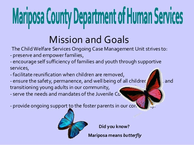 Agency analysis of Mariposa County Department of Human Services