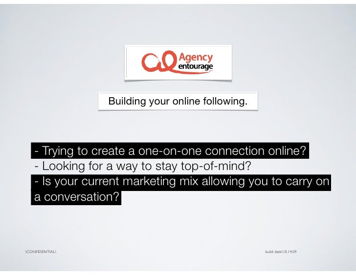 Building your online following.        - Trying to create a one-on-one connection online?     - Looking for a way to stay ...