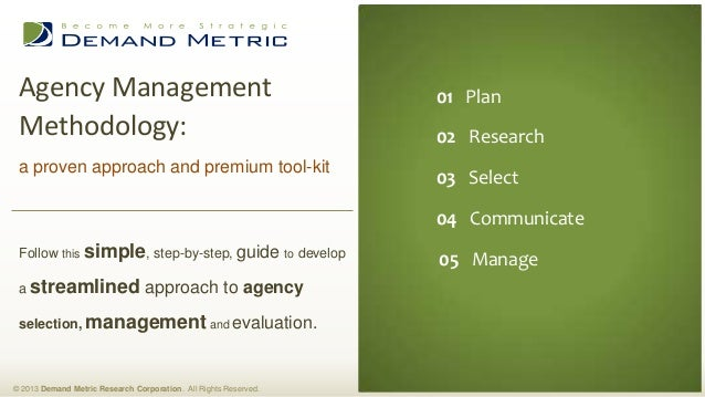 Agency Management Methodology