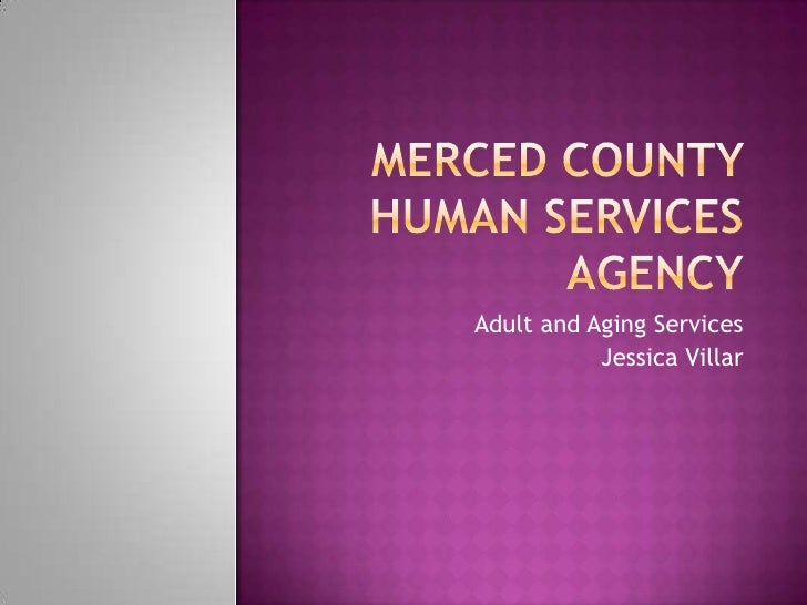 Adult and Aging Services           Jessica Villar