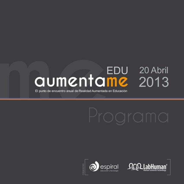 Agenda Aumentame 2013