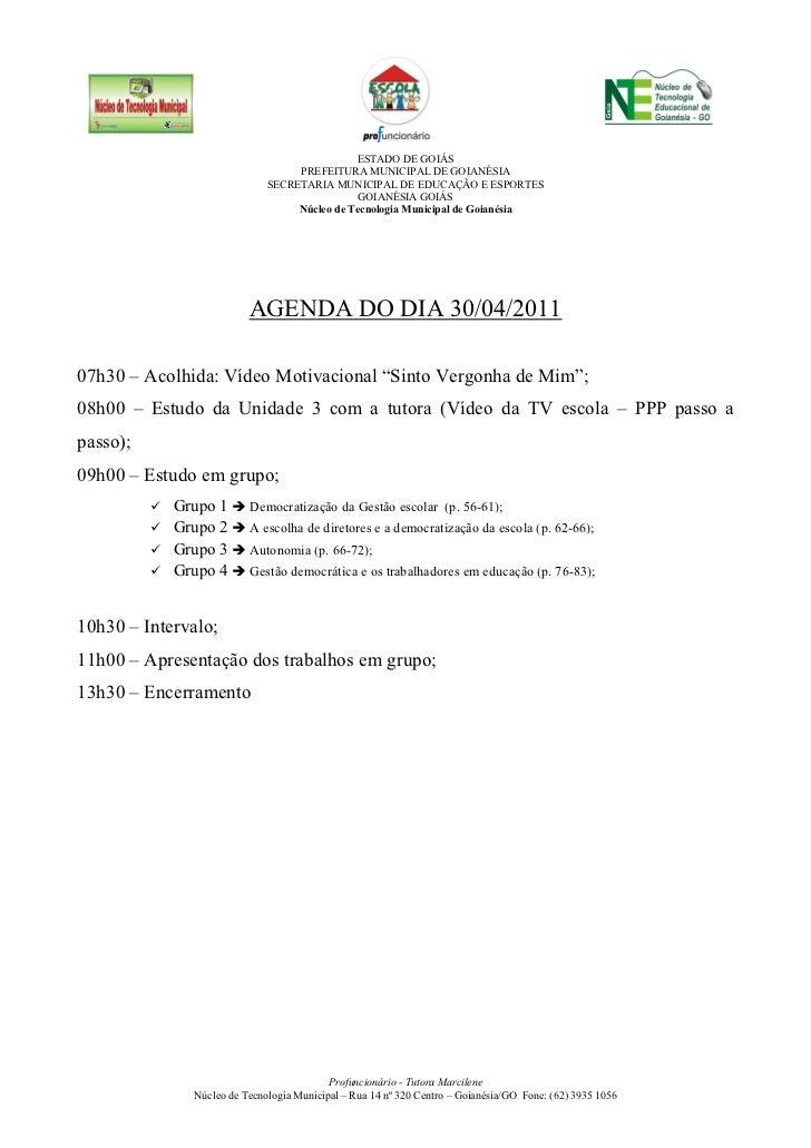 ESTADO DE GOIÁS                                  PREFEITURA MUNICIPAL DE GOIANÉSIA                             SECRETARIA ...
