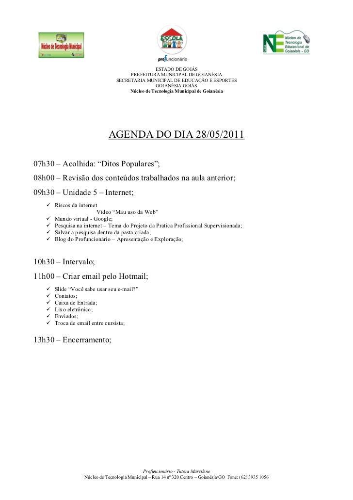 ESTADO DE GOIÁS                                      PREFEITURA MUNICIPAL DE GOIANÉSIA                                 SEC...