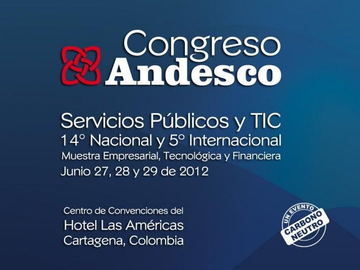 Agenda congreso Andesco 2012