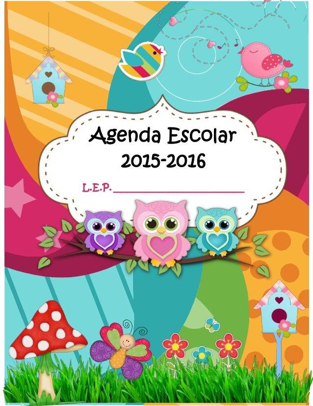 Agenda Escolar2015-2016L.E.P. _____