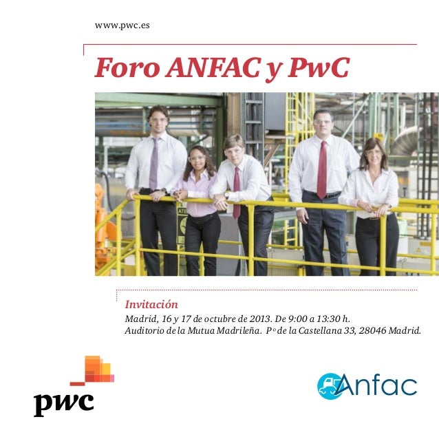 Agenda Foro ANFAC y PwC