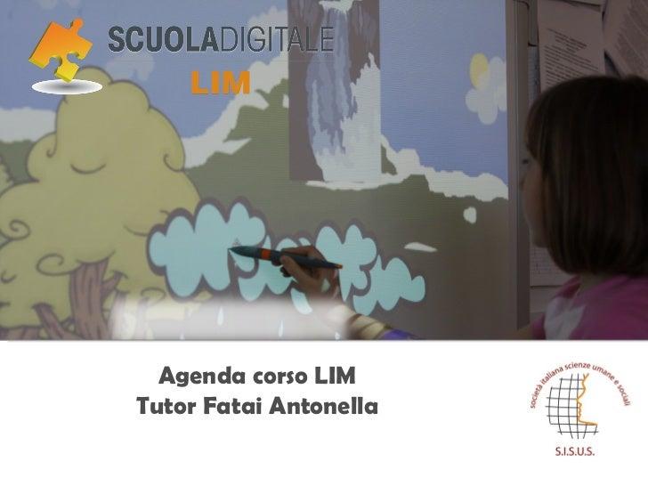 Agenda corso LIM Tutor Fatai Antonella