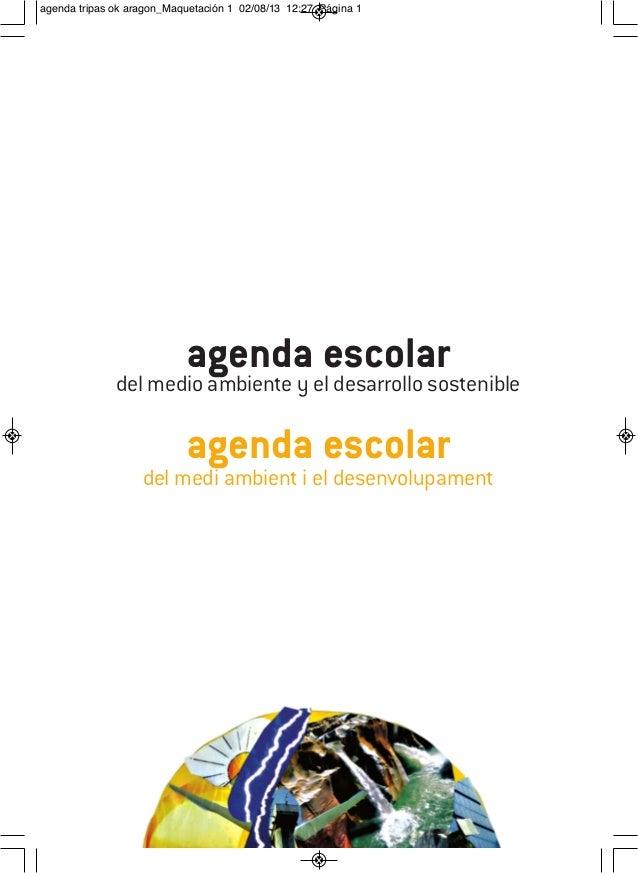 Agenda Escolar del Medio Ambiente y el Desarrollo Sostenible 2013-2014