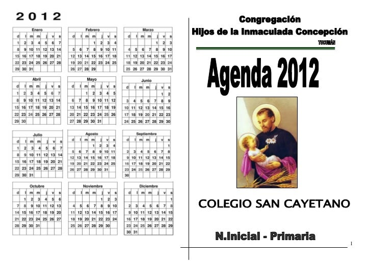 AGENDA 2012_ N. Inicial y Primaria                                1
