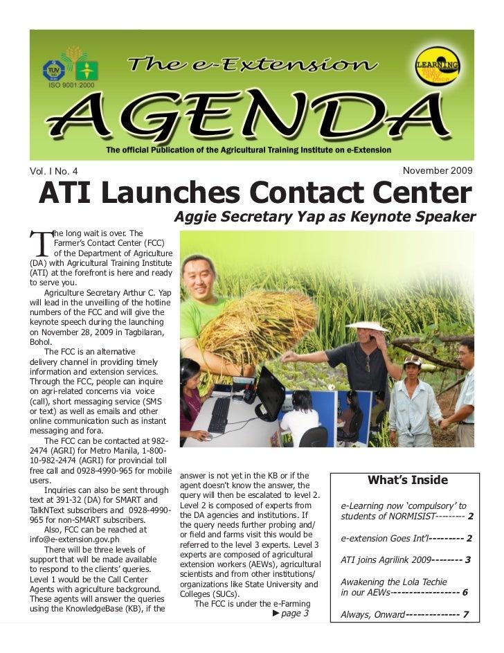 e-Extension Agenda 4th issue