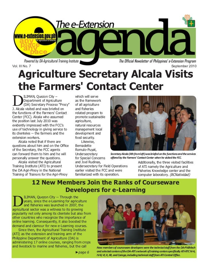 e-Extension Agenda 7th issue
