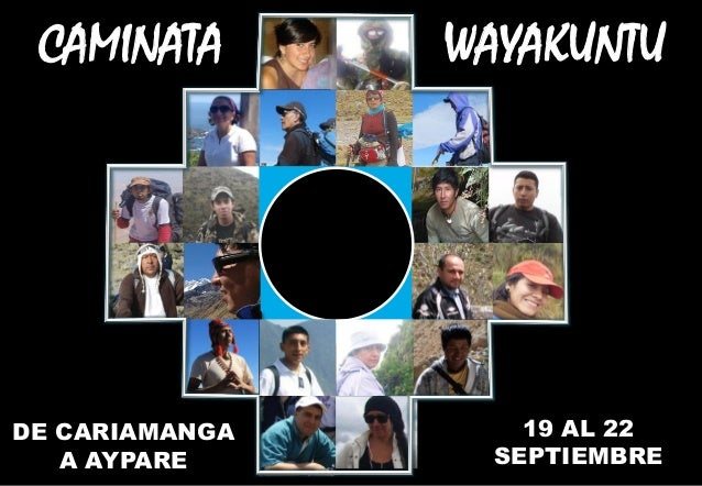 Agenda caminata wayakuntu 2013