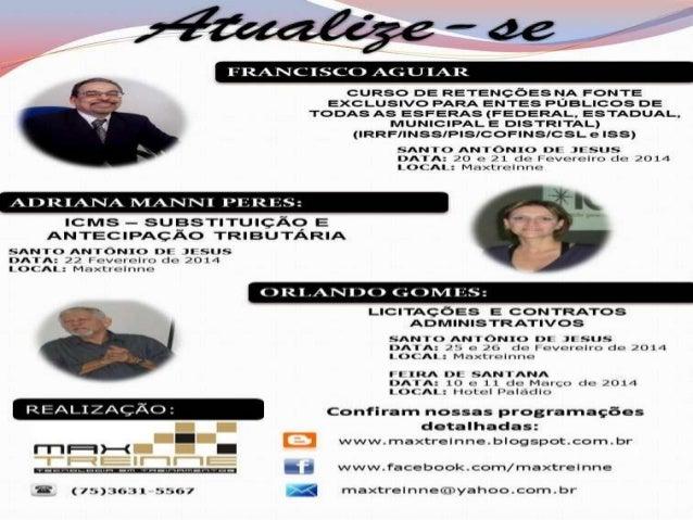 Agenda de cursos da Maxtreinne ,em S.A.Jesus, 05.02.14