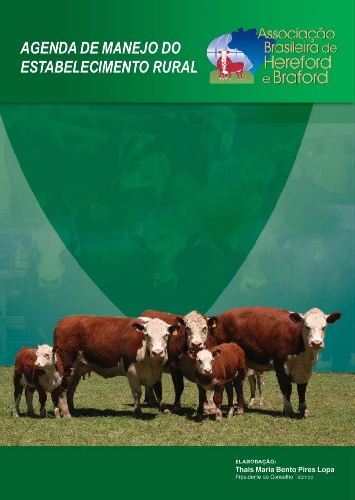 Agenda de manejo propriedade rural 2009