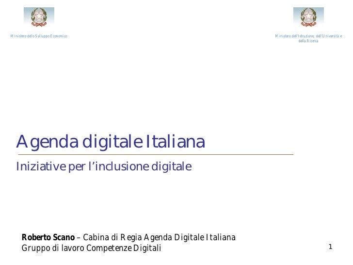 Agenda digitale italiana - iniziative per e-inclusion
