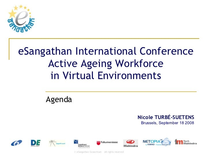 eSangathan International Conference Active Ageing Workforce in Virtual Environments Agenda