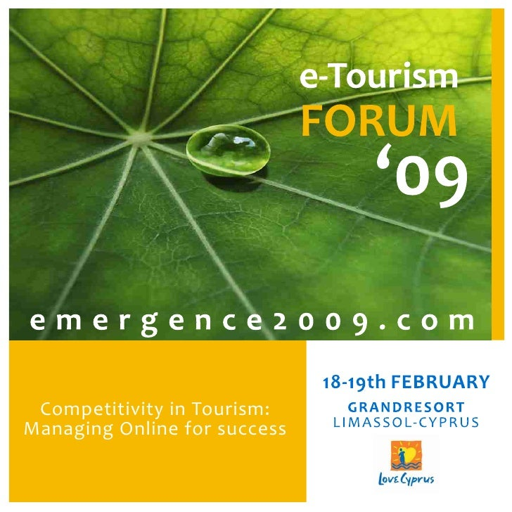 Competitivity in Tourism: Managing Online for success