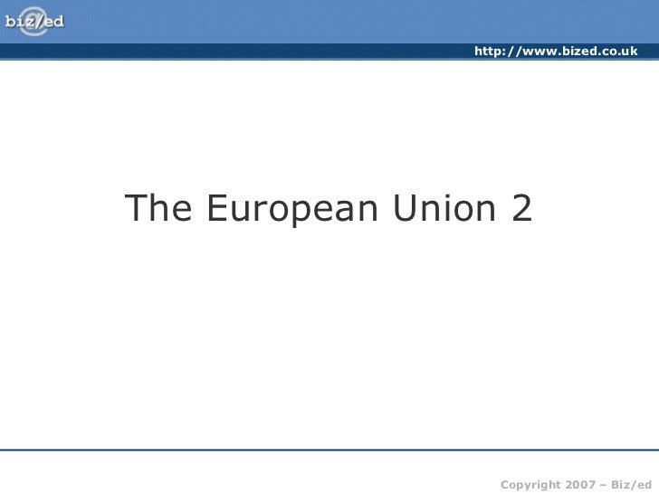 The European Union 2