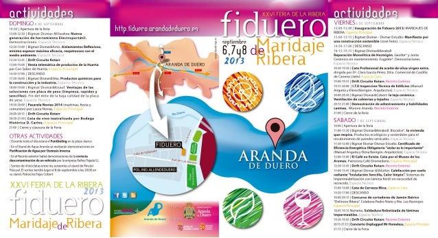Agenda fiduero 2013