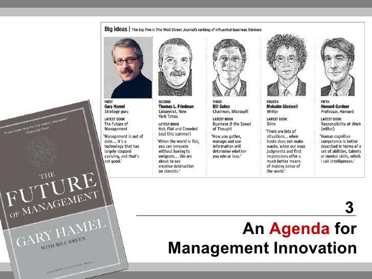 Agenda For Management Innovation