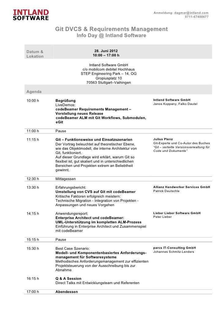 Git DVCS & Requirements Management InfoDay