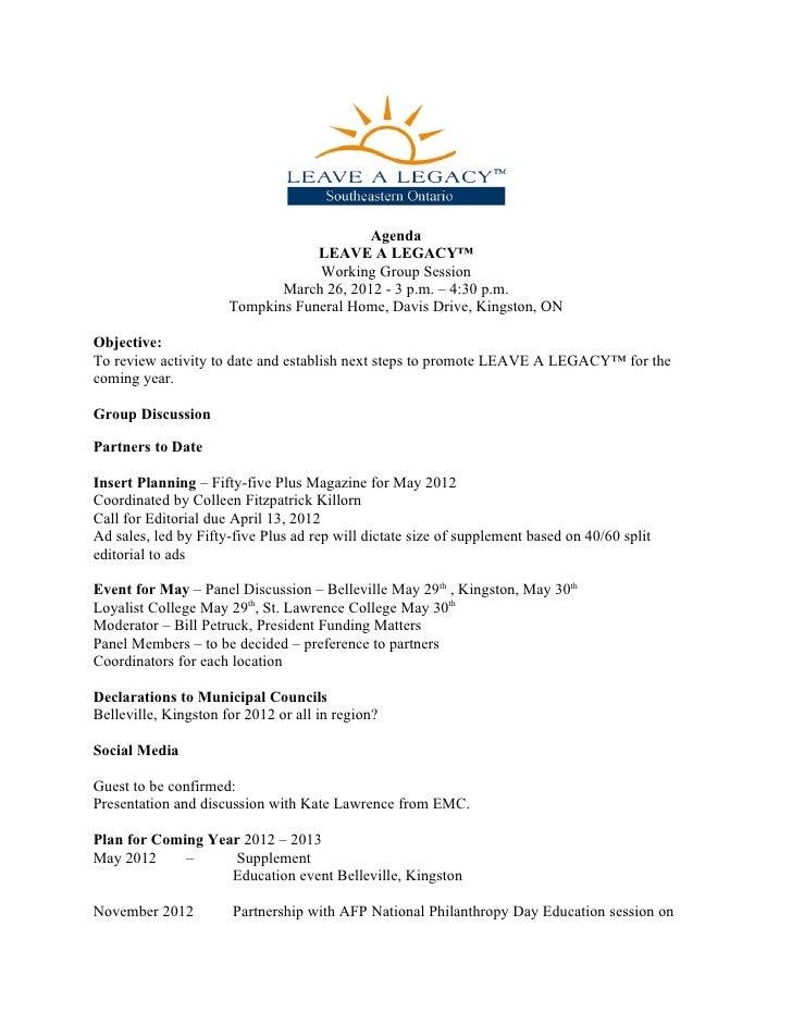 Agenda - March 26, 2012