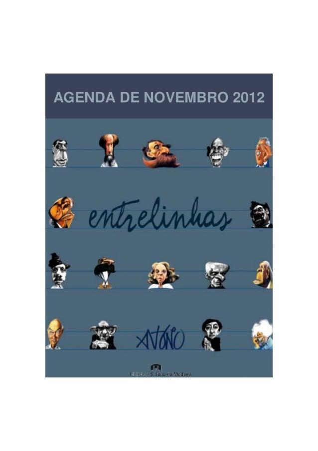 AGENDA DE NOVEMBRO 2012