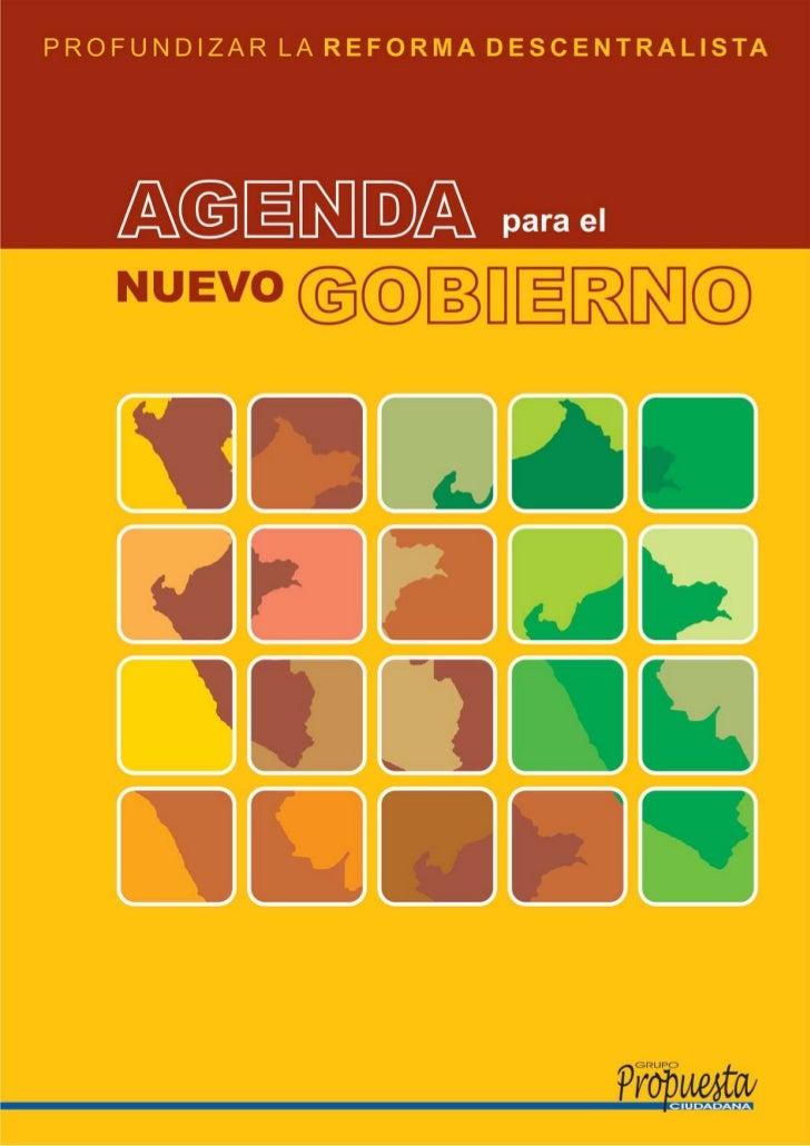 Agenda para el Nuevo Gobierno