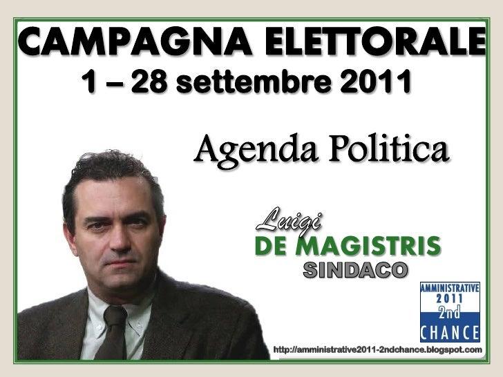Agenda politica   de magistris