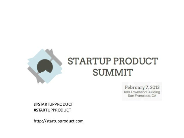 Startup Product Summit
