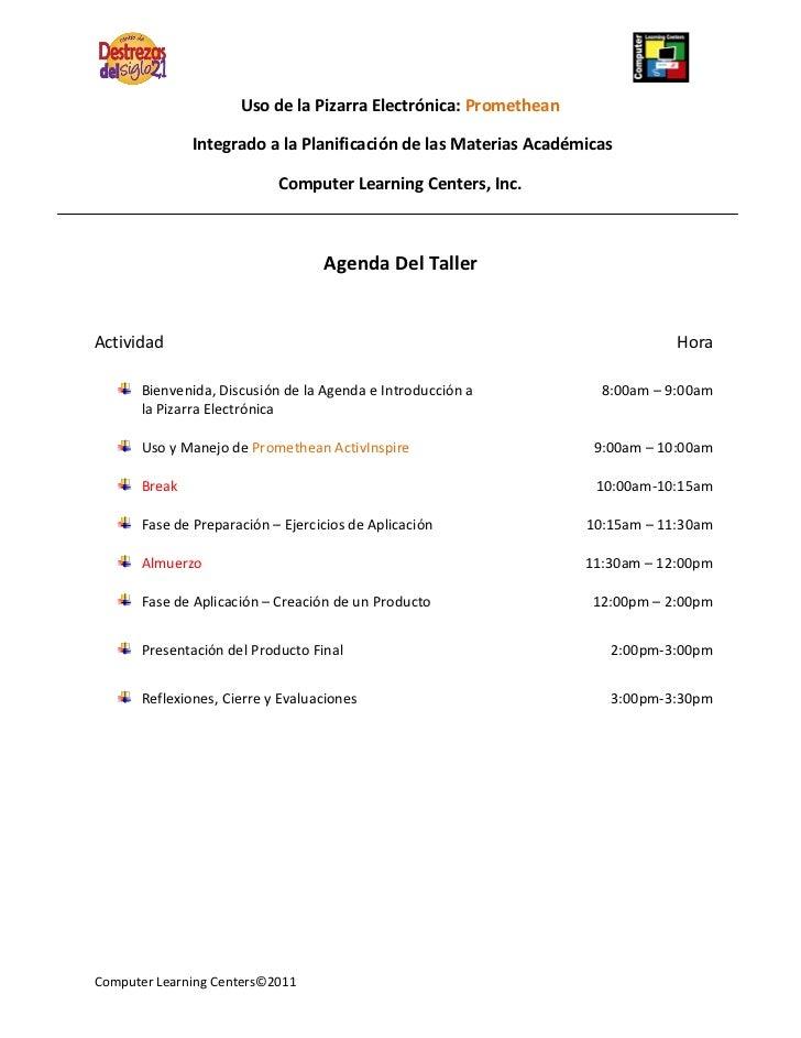 Uso de la Pizarra Electrónica: Promethean               Integrado a la Planificación de las Materias Académicas           ...