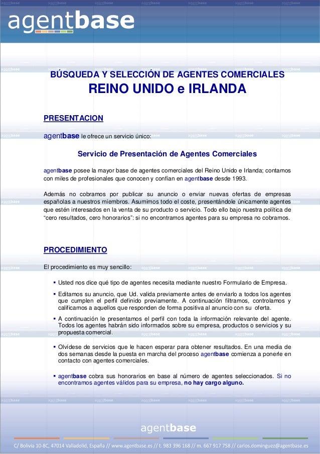 BÚSQUEDA Y SELECCIÓN DE AGENTES COMERCIALES                     REINO UNIDO e IRLANDA    PRESENTACION    agentbase...