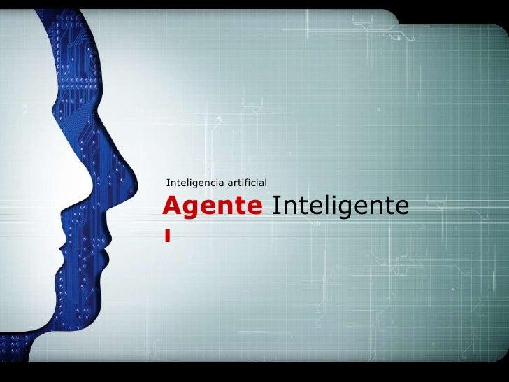LOGOInteligencia artificialAgente Inteligente